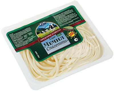 Сыр Чечил Спагетти 45% жир., 110г натуральный, Предгорье кавказа