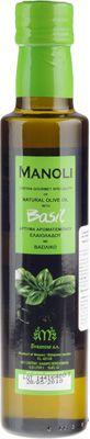 Оливковое масло Базилик 0,25л на травах и специях, Extra Virgin, Manoli