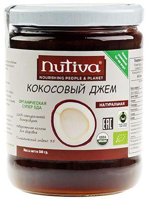 Кокосовый джем 500г 100% натуральный биопродукт, Organic, Nutiva