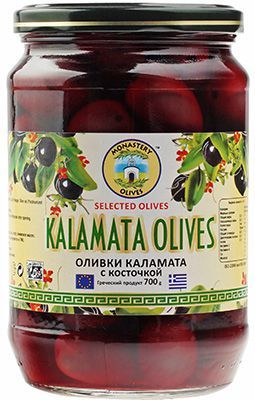 Оливки Каламата PDO, 700г с косточкой