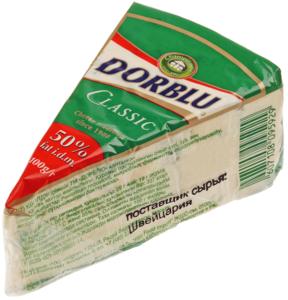 Сыр Дорблю с голубой плесенью 50% жир., 100г