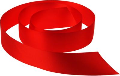 Лента атласная Красная 38мм