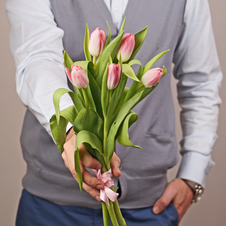 Тюльпаны розовые 5шт