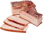 Грудинка свиная копчено-вареная ~350г
