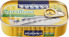 Сардины в растительном масле с лимоном 125г