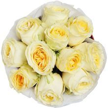 Букет розы Батеркап в шляпной коробке