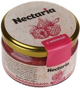 Мед натуральный взбитый с ягодами малины 250г