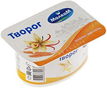 Творог Злаки-ваниль 6% жир., 125г