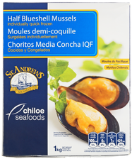 Мидии Чили на половинках раковины 1кг