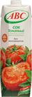 Сок томатный АВС с мякотью и солью 1л