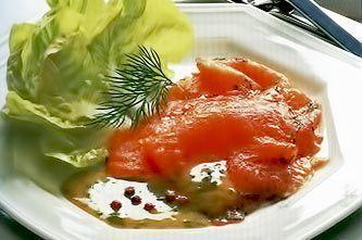 Лосось (Семга) в горчичном соусе