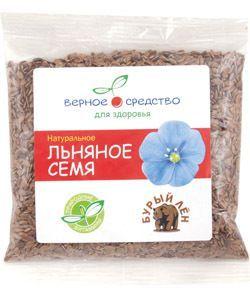 Льняное семя (бурый лен) 100г