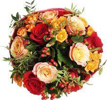 Букет №83 Розы и Гиперикум