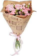 Букет №55 Гвоздики кустовые розовые 19шт