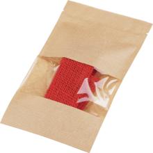 Лента декоративная джутовая красная 50см