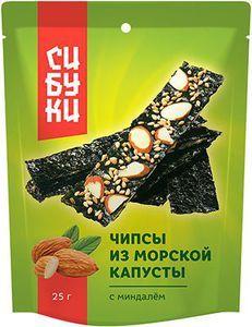 Чипсы с миндалем Сибуки 25г