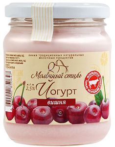 Йогурт вишневый 2,5% жир., Молочный стиль 250г