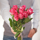Роза мини розовая 30см упаковка 10шт