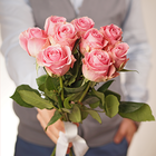 Роза розовая Вэм ~40см 1шт