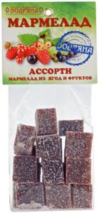 Мармелад Ассорти из ягод и фруктов 180г