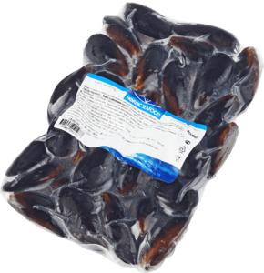 Мидии голубые в раковине 40/60 500г