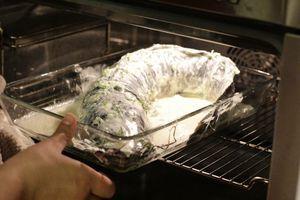 Запекать в разогретой до 230С духовке 15 минут.