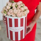 Розы кустовые Бомбастик в шляпной коробке XL ~19шт