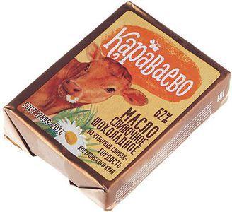 Масло шоколадное Караваево 62% жир., 170г
