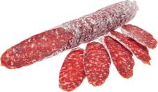 Колбаса с брусникой в белой обсыпке ~200г