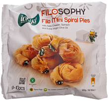Пирожки спиральные Филло с сыром Фета 500г
