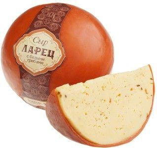 Сыр Ларец с белыми грибами 50% жир., ~1кг