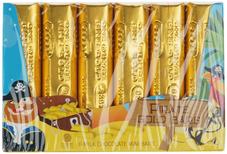 Шоколад молочный Пиратские золотые слитки 84г