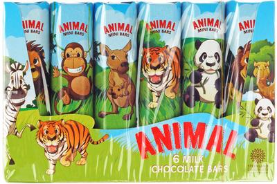 Шоколад молочный Животные 84г