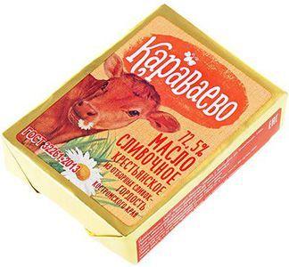 Масло сладко-сливочное Караваево 72,5% жир., 170г