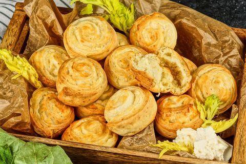 Мини-булочки с сыром
