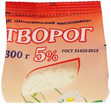 Творог Шекснинский 5% жир., 300г