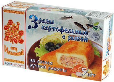 Зразы картофельные с рыбой 500г