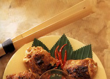 Курица в маринаде, жаренная в гриле
