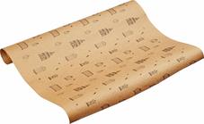 Бумага крафт упаковочная Клетки