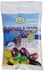 Оливки зеленые и Каламата с базиликом и кориандром 80г
