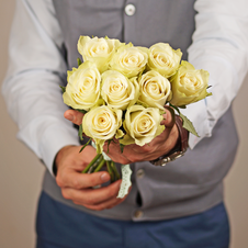 Роза белая Гратено Тембо 40см 1шт