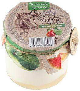Йогурт термостатный груша-яблоко 2,5% жир., 165г