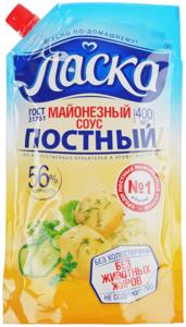 Соус майонезный постный Ласка 56% жир., 400мл