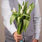 Тюльпаны белые 5шт