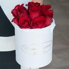 Розы Фридом в шляпной коробке L ~13шт