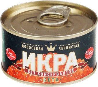 Икра кеты Чумиканской  БЕЗ КОНСЕРВАНТОВ 140г
