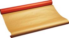 Бумага крафт упаковочная Красно-золотая 1м