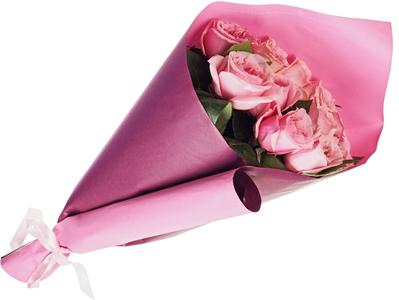 Бумага крафт упаковочная двусторонняя Сливовый-Розовый