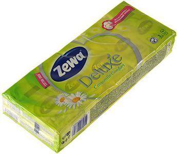 Платочки носовые ZEWA Delux с ароматом ромашки