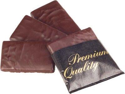 Шоколадные плитки с мятной начинкой 200г